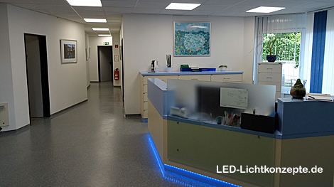 Arztpraxis Beleuchtung LED Panels